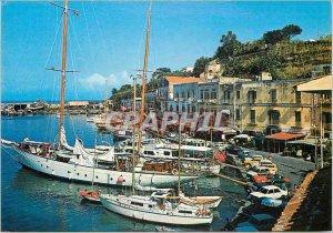 Modern Postcard the Ischia harbor Boats