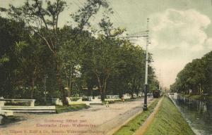 indonesia, JAVA WELTEVREDEN, Goenoeng Sahari, Electric Tram (1910s)