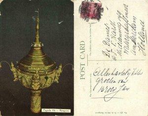 burma, RANGOON, Pagoda Hti (1913) D.A. Ahuja Postcard No. 271