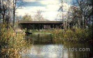 Sheffield Twp., Ashtabula County, Ohio, USA Covered Bridge Bridges, Postcard ...