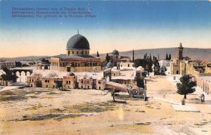 Israel Old Vintage Antique Post Card Jerusalem General view of Temple Area Ty...