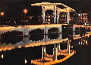 Netherlands Amsterdam Magere Brug, Meagre Bridge Pont Maigre