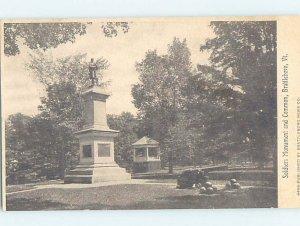 Divided-back MONUMENT SCENE Brattleboro Vermont VT AE8022