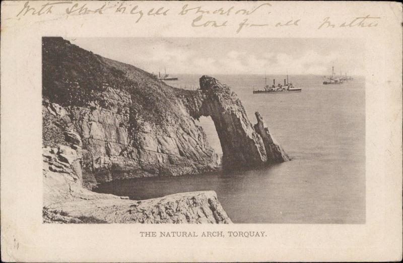 The Natural Arch Torquay UK boat ships