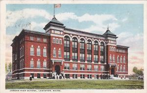 Maine Lewiston Jordan High School 1923