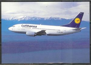 Lufthansa Airlines - Boeing 737, unused, plane data on back