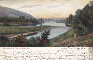 Scenic view,  Chemung River,  Athens,  Pennsylvania,   PU_1907