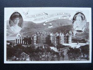 Scotland Edinburgh THE TWO QUEEN MARYS Souvenir c1911 RP Postcard by Rotary