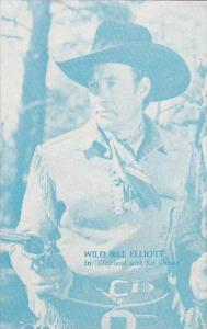 Cowboy Actor Wild Bill Elliott Vintage Arcade Card