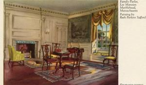 MA - Marblehead, Lee Mansion Family Parlor (Painting By Ruth Perkins Safford)