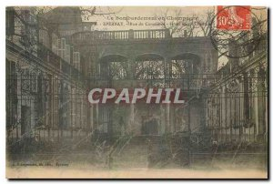 Old Postcard The bombing Epernay in Champagne MarketPlace Hotel Militaria
