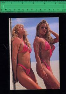 197984 USA Hot Bods semi-nude girls old Gee Whiz postcard