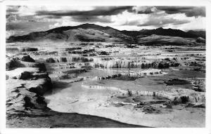 F36/ Yellowstone National Park Wyoming Postcard 40s RPPC Jupiter Terrace