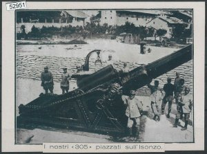 52951  - EX- LIBRIS - GORIZIA : I nostri 305 piazzati sull'Isonzo