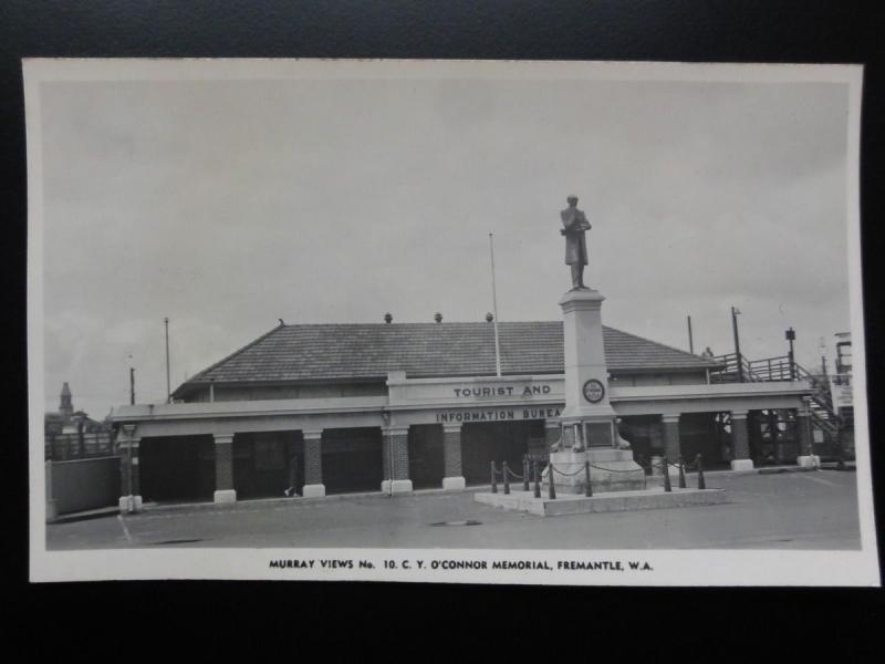 Australia: PERTH Fremantle TOURIST INFORMATION & C Y O'Connor Memorial Old RP PC