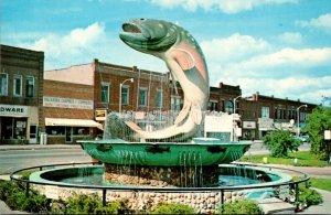 Michigan Kalkaska NationalTtrout Memorial Fountain