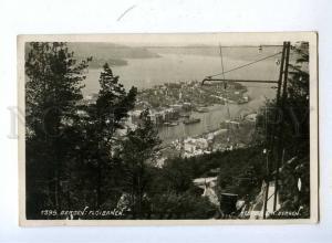 192404 NORWAY BERGEN floibanen TRAIN Old photo RPPC to ESTONIA