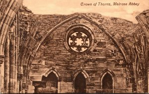 Scotland Melrose Abbey Crown Of Thorns