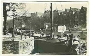 pc2717 postcard Amsterdam Oude Schans postally used Military RPPC