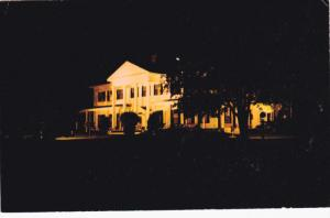 Night View, Residence of Lieutenant-Governor, Government House, Charlottetown...