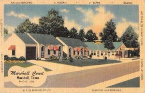 Marshall Texas Court House Street View Antique Postcard K102608