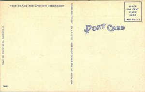 Vtg Lin 1940s Carte Postale Camp Claiborne La Principal Entrée W Signe &