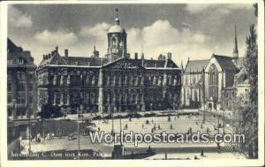 Dam met Kon Paleis Amsterdam Netherlands 1956 Missing Stamp
