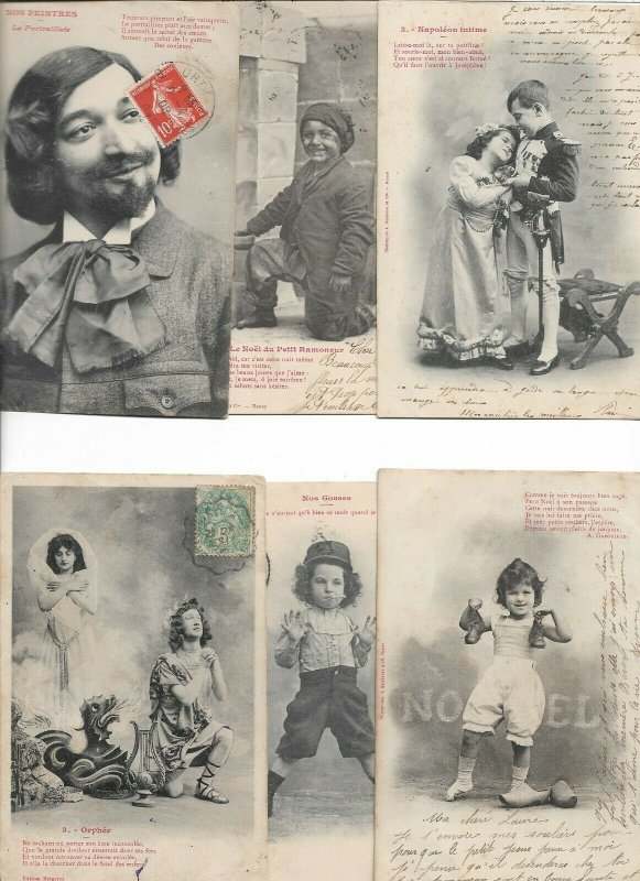 Beautiful Vintage French Fantasy Postcard Lot of 20  01.15