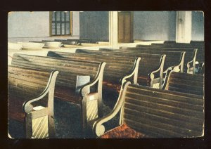 Amesbury, Massachusetts/MA Postcard, Interior, Friend's Meeting House