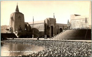 1939 GGIE San Francisco Expo RPPC Photo Postcard TEMPLES OF THE EAST Unused