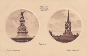 LONDON, England, 1900-1910s; Victoria Memorial, Albert Memorial