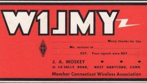 QSL Card ; West Hartford , CT , 30-40s