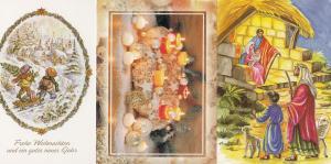 Czech Republic Christmas Cake Decorations 3x Soviet Postcard s