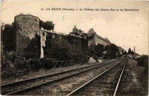 CPA LA RÉOLE Le Chateau des Quatre Sos et les Bénédictins (336307)