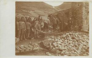 Vintage real photo postcard Italia Italy Bolzano Bozen serbian war prisoners