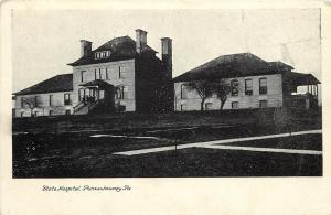 Vintage Postcard State Hospital Punxsutawney PA Jefferson County