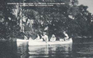 CLINTONVILLE, Wisconsin; Canoeing on the wolf river village, R #2, Imago dei ...