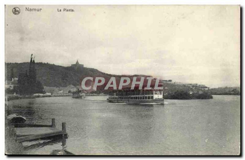 Old Postcard Namur La Plante Boat