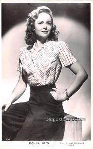 Donna Reed Movie Star Actor Actress Film Star Postcard, Old Vintage Antique P...