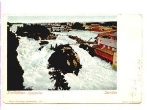 Falls and River, Trollhattan, Sweden Used 1905 Boston Flag Cancel