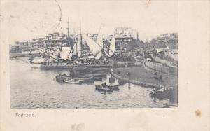 PORT SAID, Egypt, PU-1909; Harbour, Sail Ships