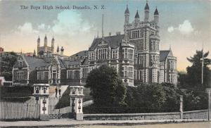 The Boy's High School, Dunedin, New Zealand, Early Postcard, Unused
