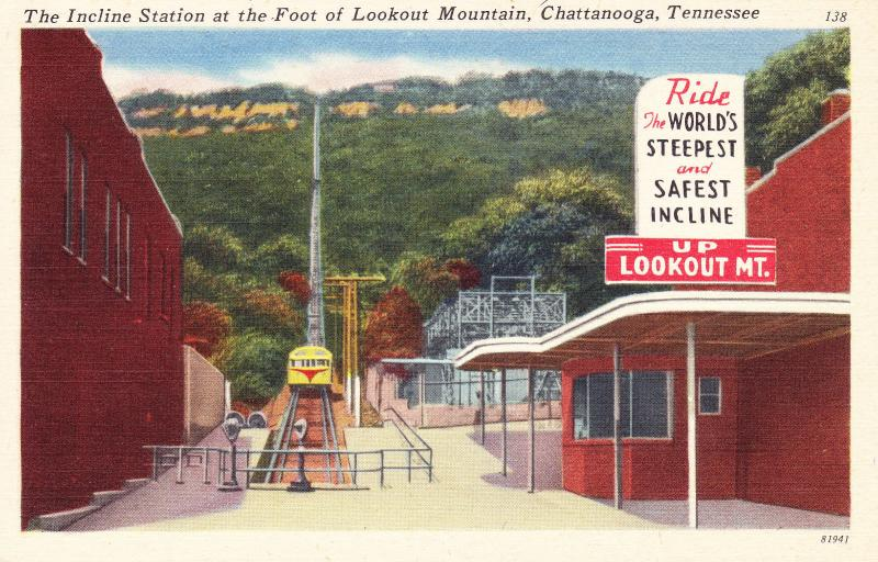 Vintage Postcard Incline Station at Lookout Mountain, Chattanooga, Tennessee C16