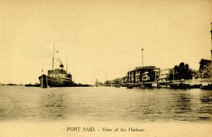 Egypt - Port Said. View of the Harbor