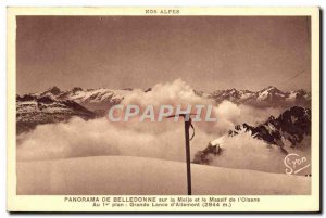 Old Postcard From Panorma Belledonne Sur La Meije and the Massif of & # 39Ois...