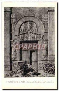 Notre Dame du Port Postcard Old South Gate (d & # 39apres an engraving of 1830)