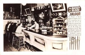 Virginia City Nevada Bucket of Blood Saloon Bar Interior Real Photo PC J65642