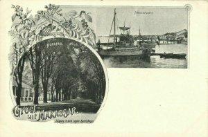 indonesia, CELEBES SULAWESI MAKASSAR, Hoogpad, Harbour Scene (1899) Postcard