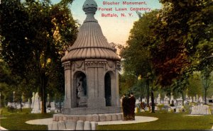 New York Buffalo Forest Lawn Cemetery Blocher Monument 1915
