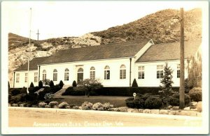 1940s COULEE DAM, Washington RPPC Photo Postcard Admin. Building Ellis O-1939